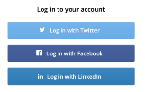 login using social api