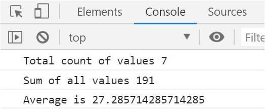 javascript average function