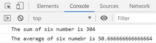 calculate average JavaScript