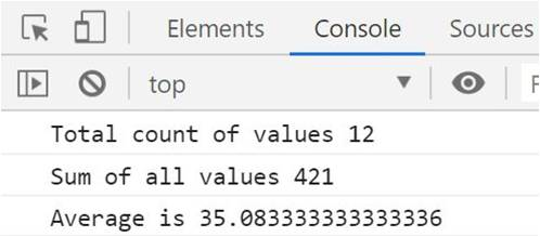 javascript get average of array