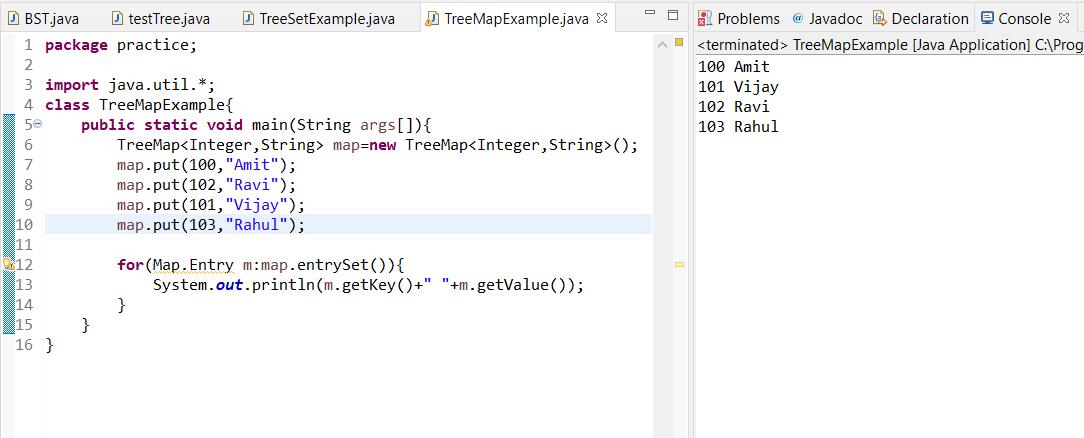 TreeMap Java programming help output