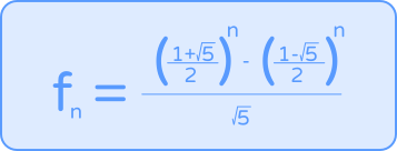 Binet's formula java