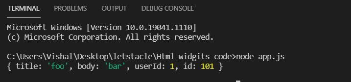 handle post request node js