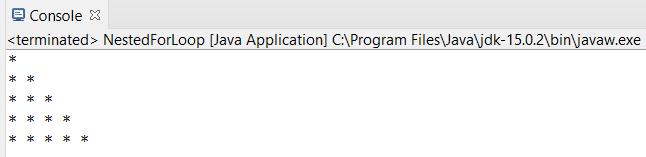 * pattern output java program